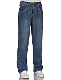 Men RURACO relaxed straight wide leg jeans 28-38