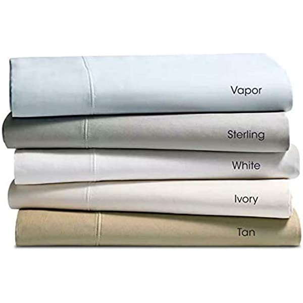 Hudson Park Collection 470TC Percale Solid Supima Cotton Sheet Set  TWIN  Ivory