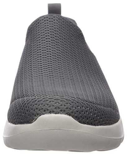 Skechers mens Go Walk Max-Athletic Air Mesh Slip on Walking Shoe,Charcoal,7 M US