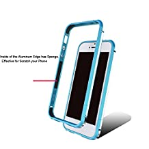 Dulaxie TM} For Xiaomi 4 4s 5 Case Highlight Ultra Thin Metal Bumper Aluminium Frame Cover for Sony Z3 For oppo R9/R9 Plus For iphone 6/6s [ Blue For oppo R9 ]