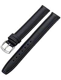 Hadley-Roma Men's MSM881XA-160 16mm Black Oil-Tan Leather Watch Strap