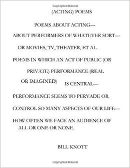 Bill Knott Poems 6