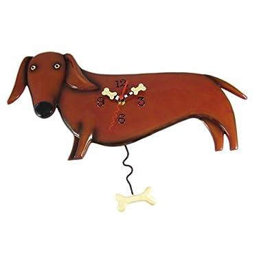 Allen Designs Oscar (Dachshund) Dog Pendulum Clock
