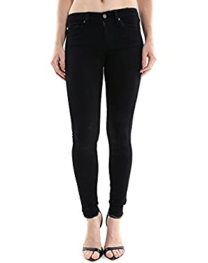 7 For All Mankind Women's The Skinny w/ Squiggle in Black AU004144A SZ 25