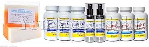 Gc3 - Glutathione Triple White Soap + (System 3) Ivory Caps Pills Skin Whitening