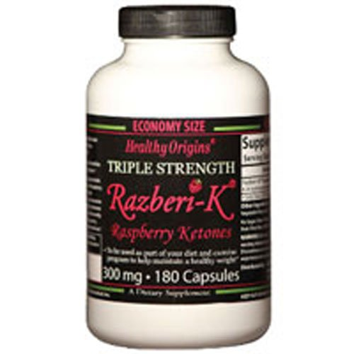 Healthy Origins Raspberry Ketones, 300Mg, 180 cap ( Multi-Pack)