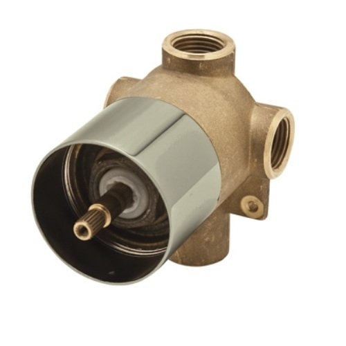 Rohl 4 Port 3 Way - Rohl AC27-STN/BO Cisal Four Port Three Direction Diverter, Rough Body Only, Satin Nickel