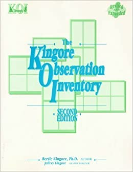 Book The Kingore Observation Inventory by Bertie W Kingore (2001-07-30)