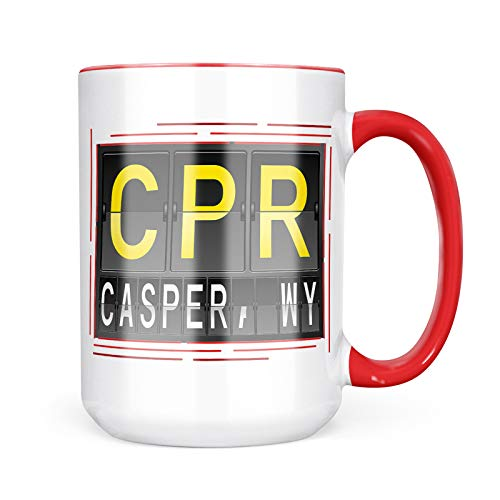 Neonblond Custom Coffee Mug CPR Airport Code for Casper, WY 15oz Personalized Name