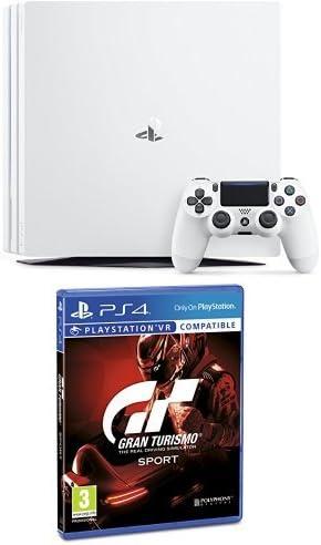 PlayStation 4 Pro (PS4) - Consola, Color Blanco + Gran Turismo Sport - Edición Estándar: Amazon.es: Videojuegos