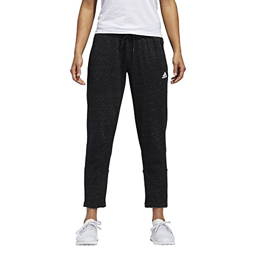 Black Street Pant - adidas Womens Athletics sport-2-street 7/8 Pant, Black Melange/White, Small