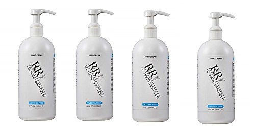 ''Alcohol Free'' Hand Sanitizing Lotion kills 99% of Germs up to 4 Hours, 32oz. (4-Pack)