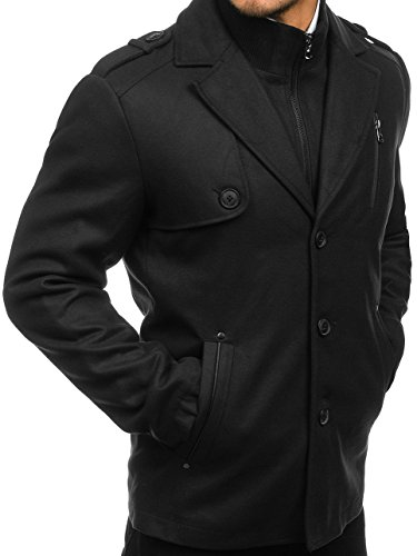 BOLF MIX Invierno 3131 Negro Abrigo Hombre De rxRnwqCWrf