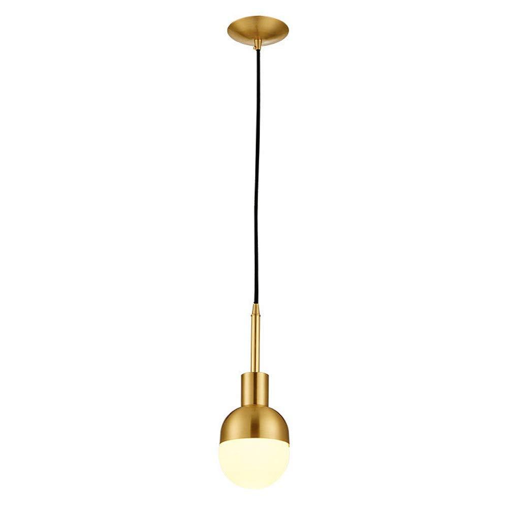 Jiafum Modern Copper Single Head Pendant Light Personality Bedside Lampenleuchter (5,5 Zoll im Durchmesser)