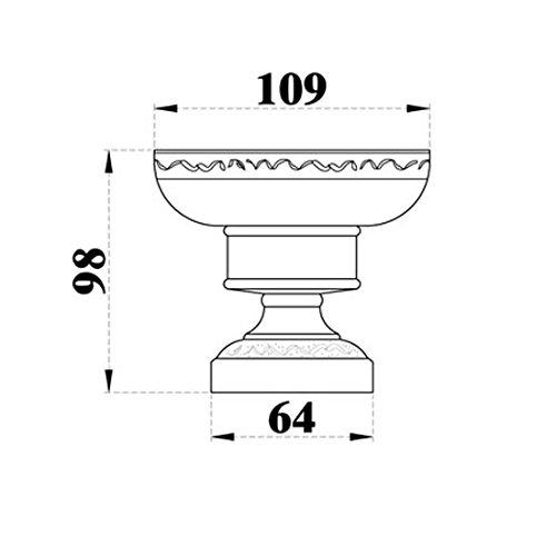 Vintage Bathroom Deck Mount Soap Dish Dark Oil Rubbed Bronze Finish Brass Pedestal and Porcelian White Paller Wash Basin Jewels Holder Lavatory Basin Soap Holder by GUMA