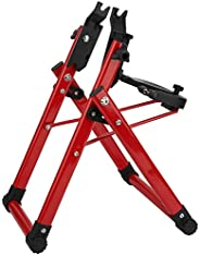 Bike Repair Tool, Intelligent Compact Designed Red Bicycle Wheel Truing Stand, Game for Home and Group Mechani