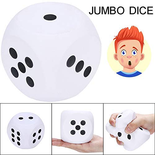 Euone Toys, 10cm Squishies Giant Jumbo Dice Slow Rising Cream Scented Stress Relief Toys