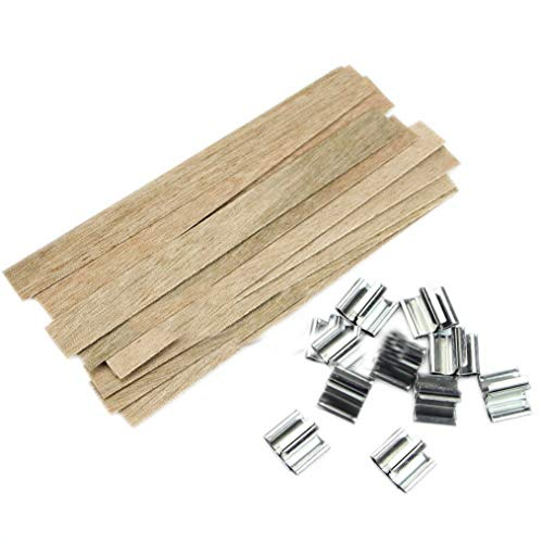 Fay Waters Candle Wood Wick 10Pcs 12.5mm x 150mm with Sustainer Tab Making ()