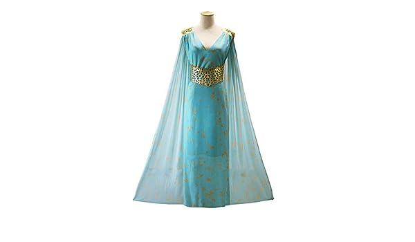 yiguanguan - Vestido Largo Azul para Mujer, Juego de Tronos ...