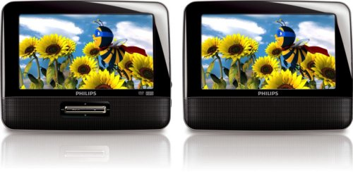 Philips PD7012/37 7-Inch LCD Dual Screen Portable DVD Pla...