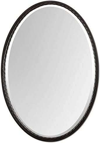 Uttermost 01116 Casalina Oil Rubbed Oval Mirror, Bronze