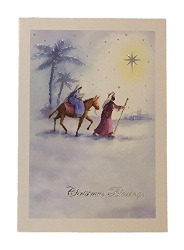 - Holiday Boxed Christmas Cards Set of 28 - Variety to Choose From (Christmas Blessing Silent Night)