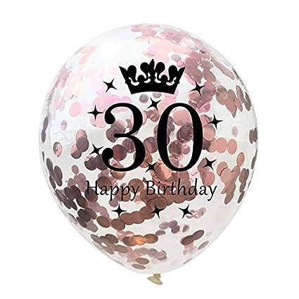 Tonver 30 Ans De Mariage Ballons En Latex 10 Pcs30 Cm Confetti Ballon Décoration De Fête Fournitures Pour Rubis Mariage Anniversaire De Mariage