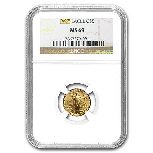 1986 – Present 1/10 oz Gold American Eagle MS-69 NGC (Random Year) Gold MS-69 NGC