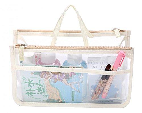Insert Vinyl Slide - Travel Smart Hand Pouch Bag In Bag Organiser Cosmetic Gadget Purse Organizers Inserts