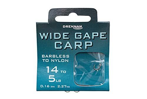 Drennan Wide Gape Carp Barbless Hooks To Nylon 10 to 7lb