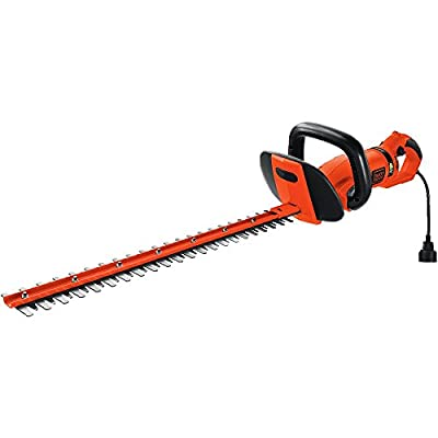 BLACK+DECKER HH2455 24-Inch HedgeHog Hedge Trimmer With Rotating Handle And Dual Blade Action Blades
