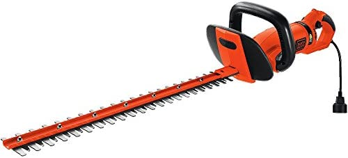 BLACK DECKER HH2455 3.3-Amp HedgeHog Hedge Trimmer with Rotating Handle And Dual Blade Action Blades, 24
