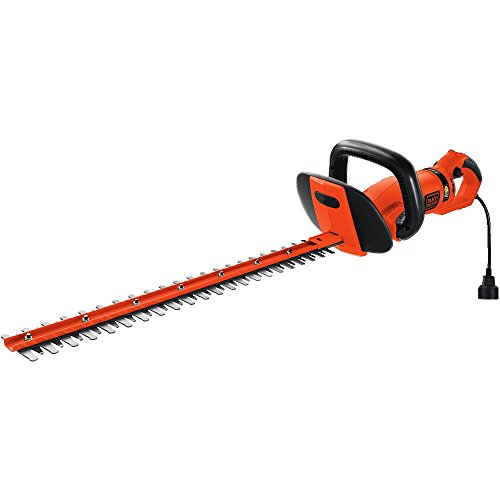 BLACK+DECKER HH2455 3.3-Amp HedgeHog Hedge Trimmer with Rotating Handle And Dual Blade Action Blades, 24'