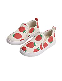 Auhoho Girls Cute Strawberry Canvas Shoes Loafers Slip On Sneakers