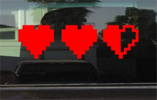 Yilooom Bumper Sticker for Cars, Trucks, Laptops - Legend of Zelda Heart Container