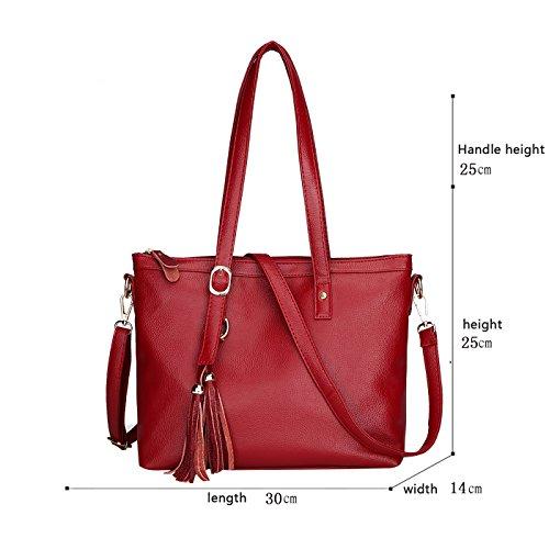 Umhängetasche Tisdaini Rouge Paket Frauen Trendige Weiche Tasche Lässig Mode Pu Handtaschen Diagonal r6w8rOP