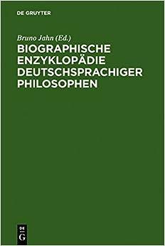 Book Biographische Enzyklop Die Deutschsprachiger Philosophen