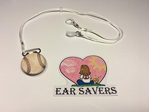 Bilateral Baseball Lanyard Clip for Hearing Aids or