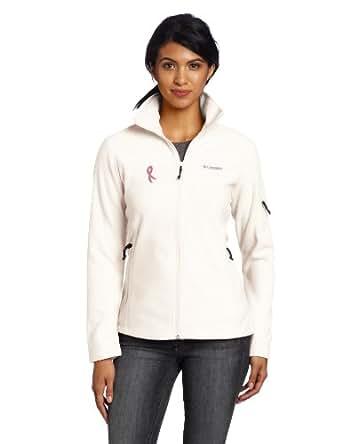 Columbia Women's Tested Tough In Pink Fast Trek Full Zip Jacket, Sea Salt, Small