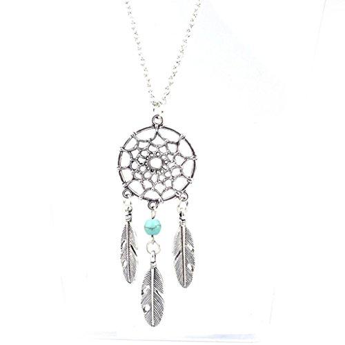 Fheaven Fashion Retro Jewelry Dream Catcher Pendant Chain Necklace