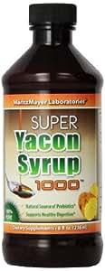 Yacon Syrup,100% Pure Raw All Natural Low Cal Natural Sweetener, 8 oz