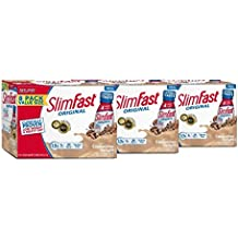 SlimFast Original - Weight Loss Meal Replacement RTD Shakes - With 10g Of Protein & 5g Of Fiber - Plus 24 Vitamins and Minerals per serving - Cappuccino Delight, 8 Count (Pack Of 3)