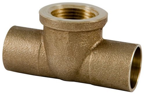 Plumber's Choice 92369 1-Inch x 1-Inch x 1/2-Inch C x C x FIP Cast Brass Sweat Fitting Tee