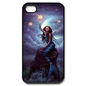 LZHCASE Diy Customized hard Case Mermaid For Iphone 4/4s [Pattern-1]