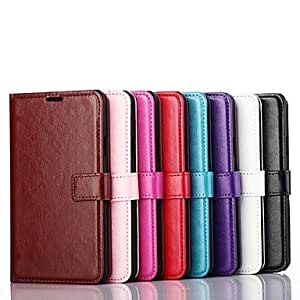 HP Solid Color Pattern PU Leather Cover with Stand and Card Slot for Samsung Galaxy Note 4(Assorted Colors) , Brown