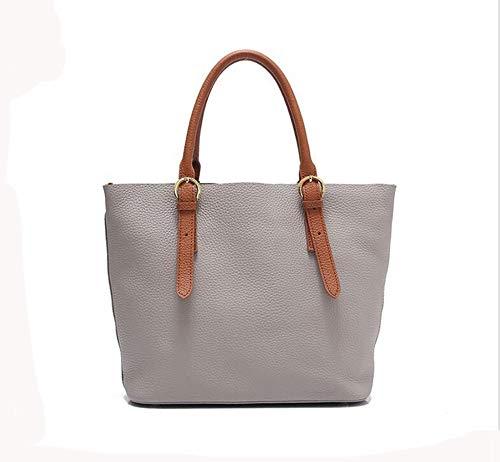 Layer Big Female Shoulder Fashion Leather Handbag Lady Baotan Cowhide Bag C Baotou Messenger Hongge 1xqFRnYIn