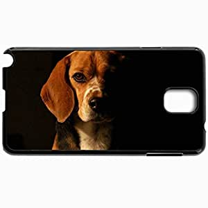 Customized Cellphone Case Back Cover For Samsung Galaxy Note 3, Protective Hardshell Case Personalized Beagle Black