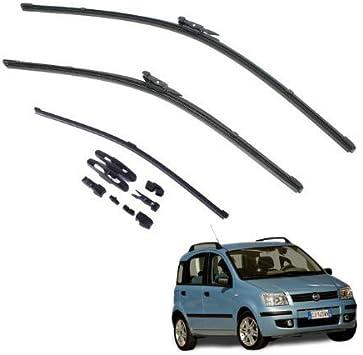 Spazzole tergicristallo anteriori e posteriore set da 3 Fiat Panda AOQ