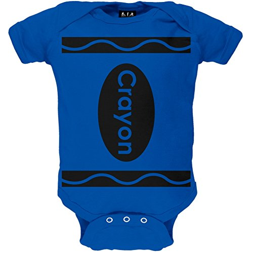 [Halloween Blue Crayon Costume Baby One Piece - 12-18 months] (Halloween Costumes For 16 Month Old Girl)