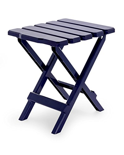 Camco 51683 Navy Regular Adirondack Portable Outdoor Folding Side Table, Perfect for The Beach, Camping, Picnics, Cookouts and More, Weatherproof and Rust Resistant